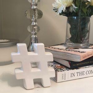 Hashtag Decor Piece